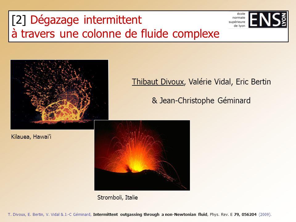 [2] Dégazage intermittent à travers une colonne de fluide complexe